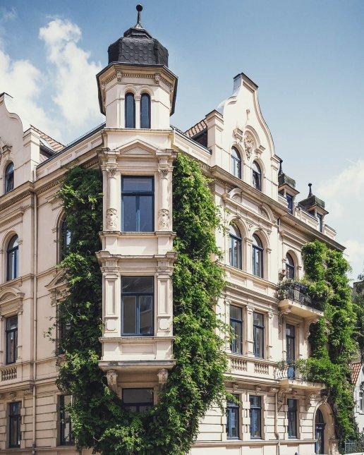 Begrüntes Haus in der Ostwenderstraße