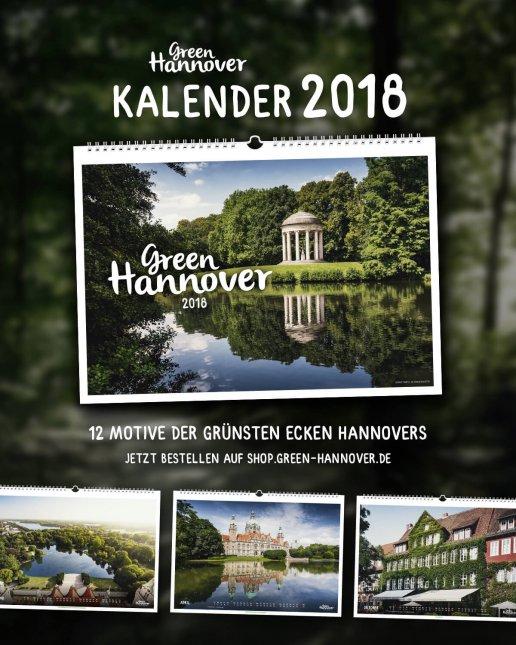 Green Hannover Kalender 2018 - die grünsten Ecken der Stadt