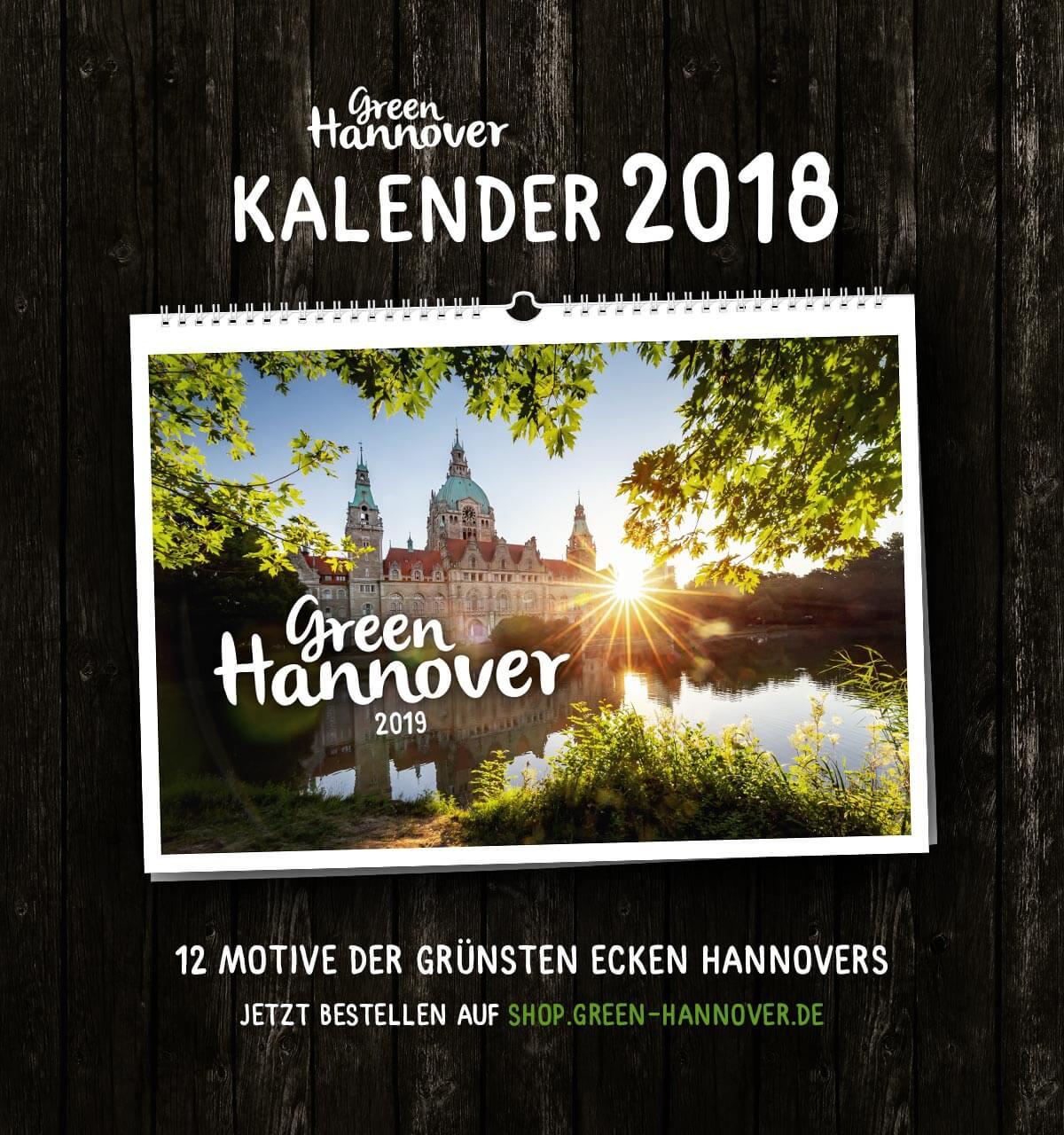Green Hannover Wandkalender 2019