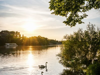 Sonnenuntergang am Maschsee in Hannover