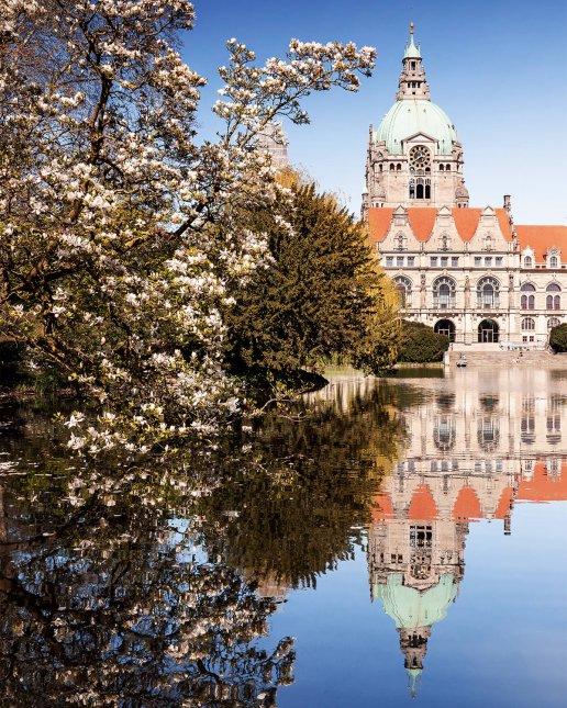 Neues Rathaus im Frühling