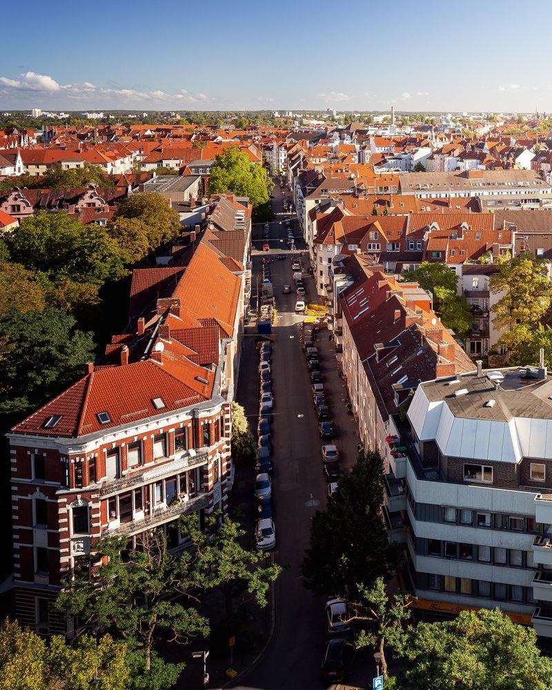 Blick auf die Edenstraße in der List 