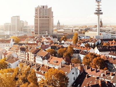 Hannover von oben im Herbst