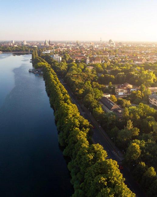 Maschsee Hannover von oben